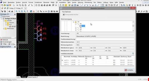 Verteilerstrukturplanung CAD Teil 3 - Nummerierung, Zuordnung, Drucken