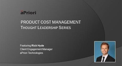 aPriori PCM Thought Leadership Series - Episode 2 [Full Version]