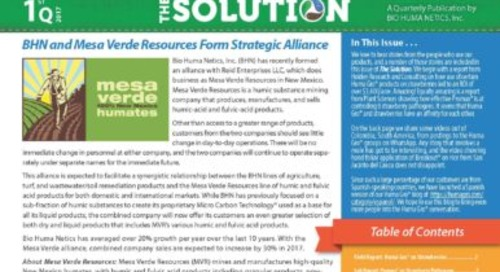 Latest Edition of the BHN Newsletter, The Solution, Is Available