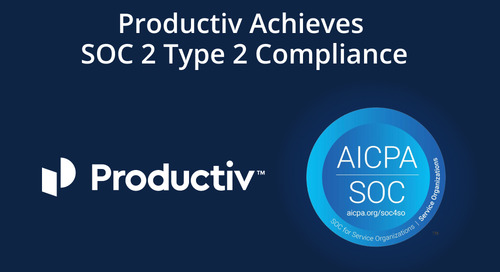 Productiv Achieves SOC 2 Type 2 Compliance