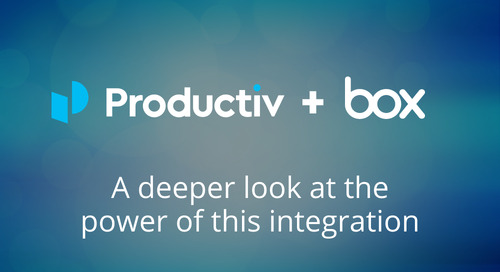 Productiv + Box: A deeper look at the power of this integration