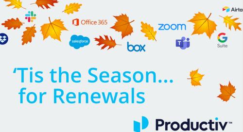 'Tis the Season….For Renewals