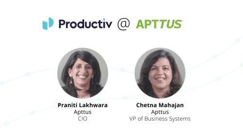 Productiv Insights: SaaS Management at Apttus