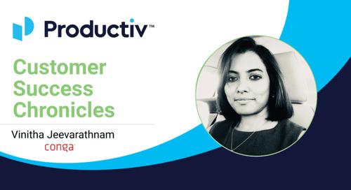 Customer Success Chronicles: Productiv + Conga