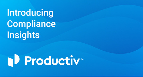 Introducing Compliance Insights in Productiv