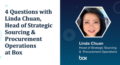 4 Questions with Linda Chuan, Head of Strategic Sourcing & Procurement Operations at Box