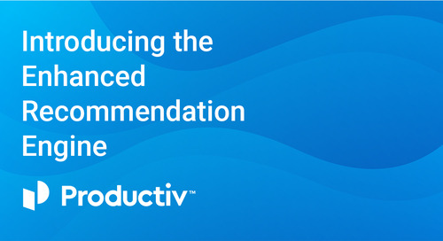 Introducing the Productiv Enhanced Recommendation Engine