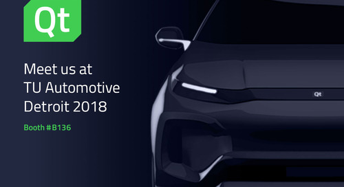 Meet us at TU Automotive Detroit 2018 – Booth #B136