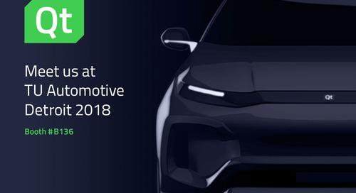 Meet us at TU Automotive Detroit 2018 – Booth #B136
