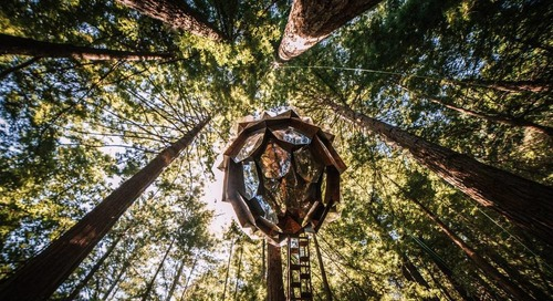 Why You Must Ask Santa for This Stunning, Pine Cone-Shaped Treehouse