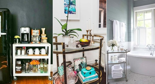 Cheers! 6 Smart and Fun Ways to Use Bar Carts Throughout Your Home