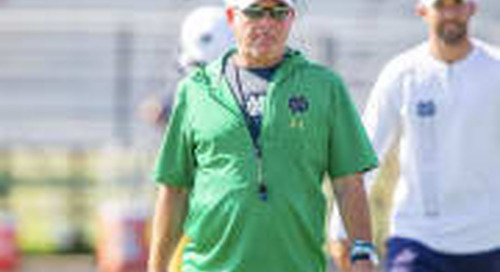 Notre Dame Head Coach Brian Kelly Talks Practice 8 Of Fall Camp
