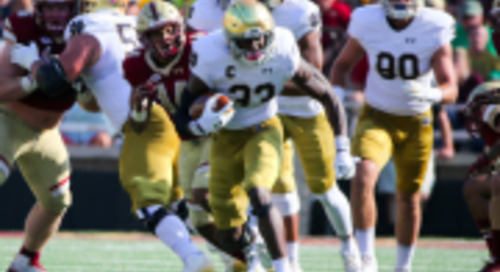Inside The Numbers: Breaking Down Notre Dame's Early Season Run Game