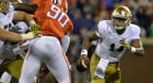Notre Dame-Clemson Spread: What Tho' The Odds, Indeed