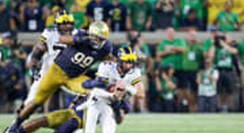 Notre Dame-Michigan To Meet At Night Again