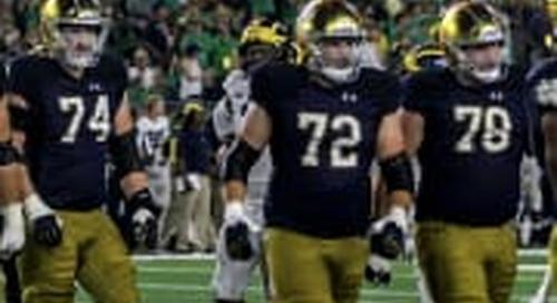 PFF: Returning Notre Dame O-Line Among The Nation's Best
