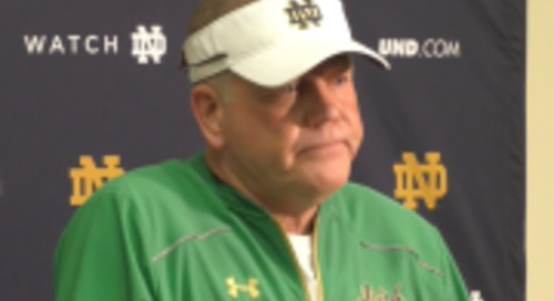BGI Video: Brian Kelly Talks Preparation, WR C.J. Sanders