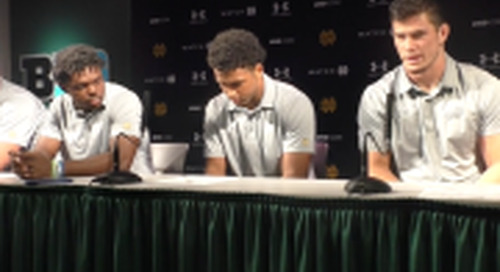 BGI Video: Notre Dame Players Post-Michigan State