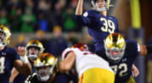 Notre Dame's Jonathan Doerer Achieves Unique Kicking Feat