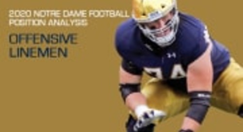 2020 Notre Dame Football Analysis: Offensive Linemen