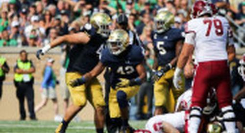 Julian Okwara Rushing Forward At Notre Dame