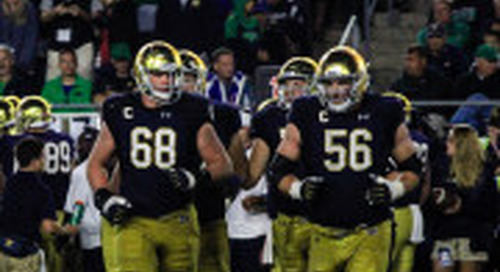 Notre Dame Offensive Line Earns Mid-Season Recognition