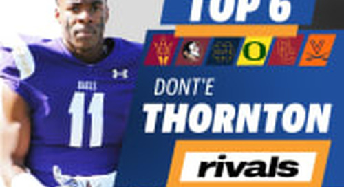 Elite WR Dont'e Thornton Jr. Breaks Down Top Schools