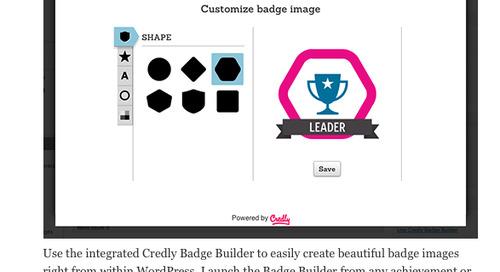 BadgeOS Integrates Popular Credly Badge Builder into WordPress