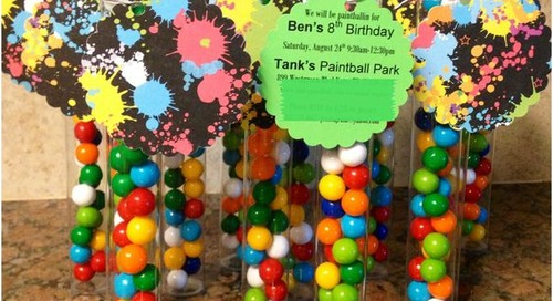 Paintball invites -