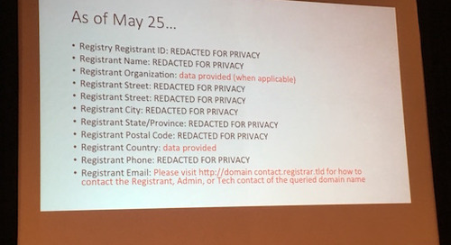 GDPR and WHOIS: Here's What You Need to Know