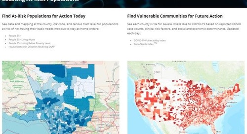 Conduent's Healthy Communities Institute Launches COVID-19 At-Risk Populations Website Offering Health Data to Protect Those in Need