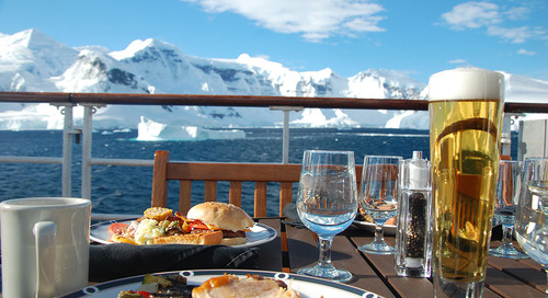 Dining in Antarctica with Quark Expeditions