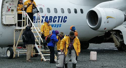 Flying to Antarctica and the Arctic