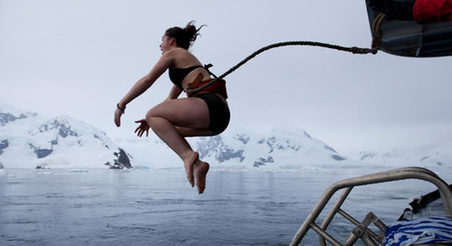Take a Polar Plunge with Quark Expeditions and Stop Kids Cancer Cold