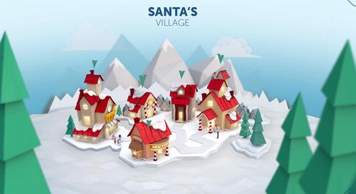 Track Santa's Journey Over the Polar Regions & Around the World