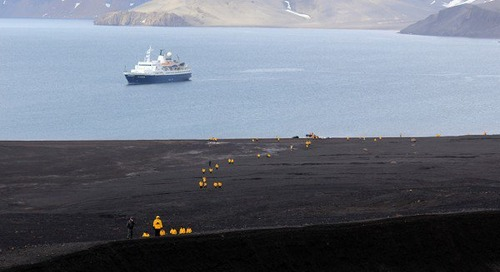 A hike at Deception Island