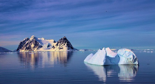 Picture perfect Iceberg and water