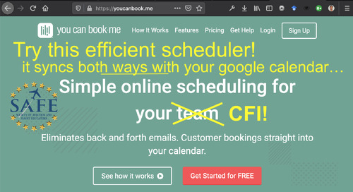 YouCanBook.Me App for CFI Scheduling