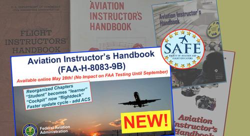 New FAA Instructor's Handbook!