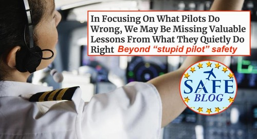 """Beyond the """"Stupid Pilot"""" View of Safety!"""