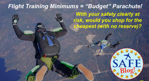 """Minimum Hours = """"Budget Parachute;"""" Sell Safety!"""