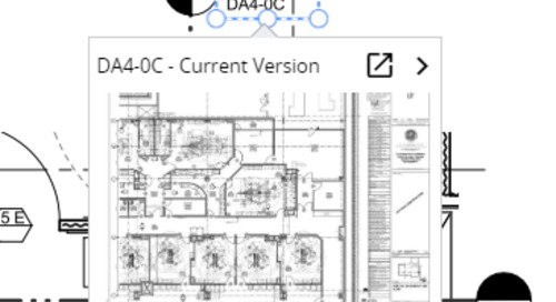 ProjectSight intelligently finds and links all published drawing callouts