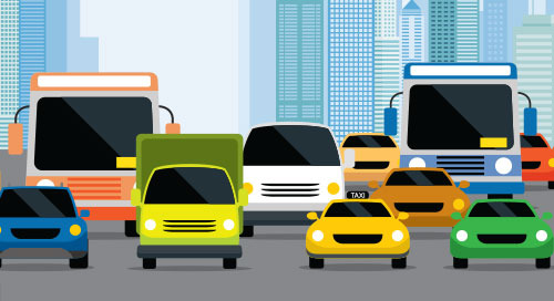 AI and Computer Vision Direct City Traffic