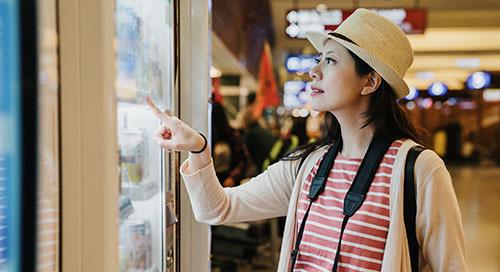 自动售货机通过人工智能实现智能化