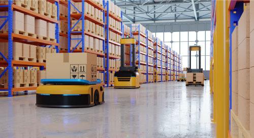 AI 機器人讓倉庫無線化