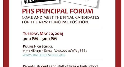 PHS Principal Forum