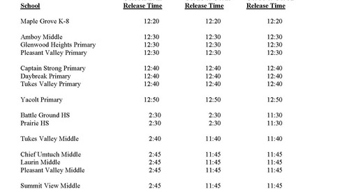 3 Hour Early Release Oct 27-31