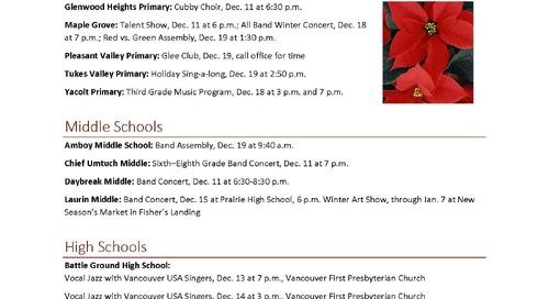 Schools Celebrate Holidays