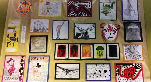 Chief Middle School Students' Art on Display at New Seasons Market