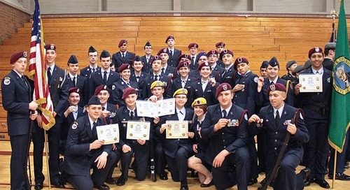 PHS, BGHS AFJROTC Teams Win at Drill Team Competition